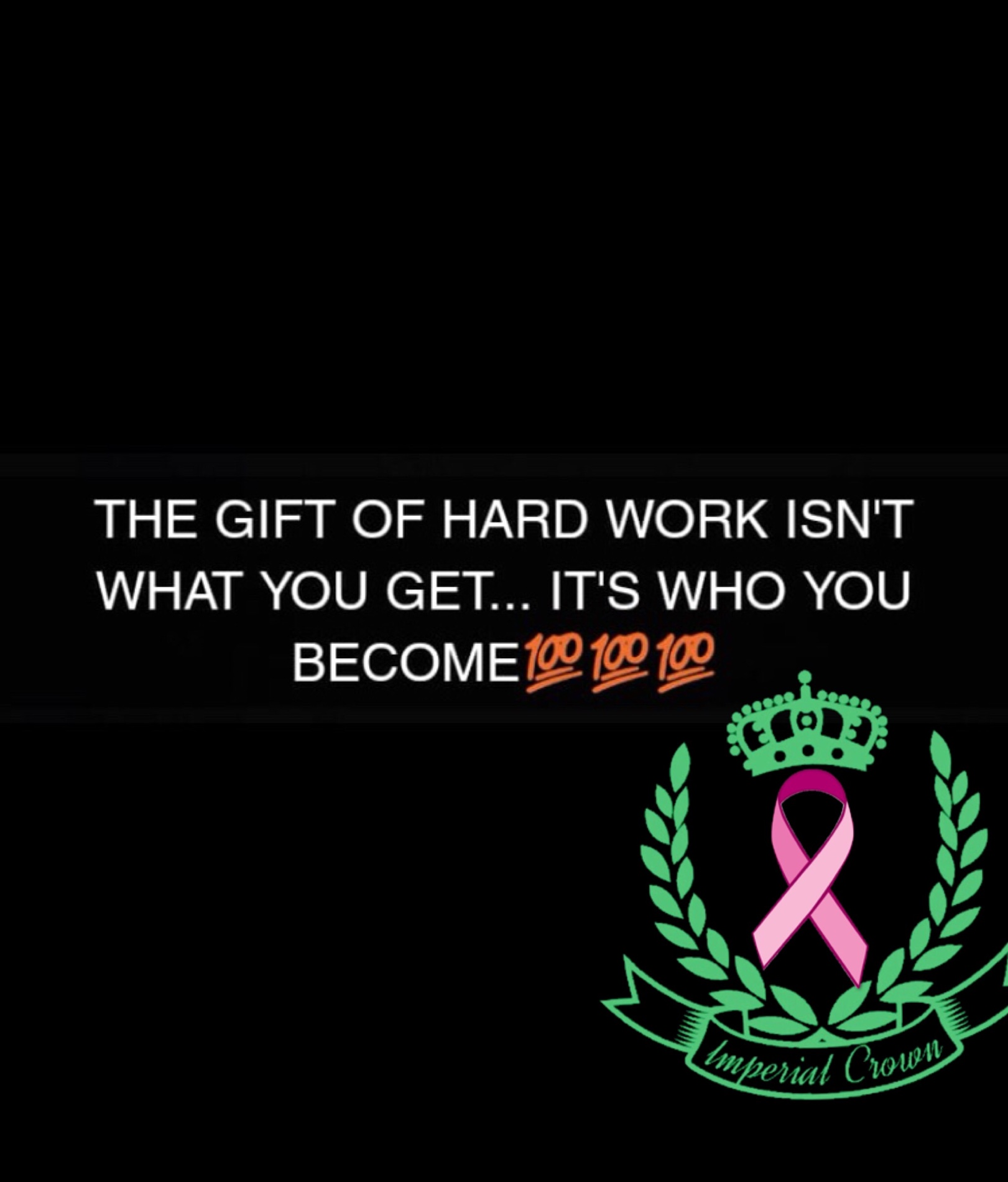 The gift of hard work isn't what you get it's who you become