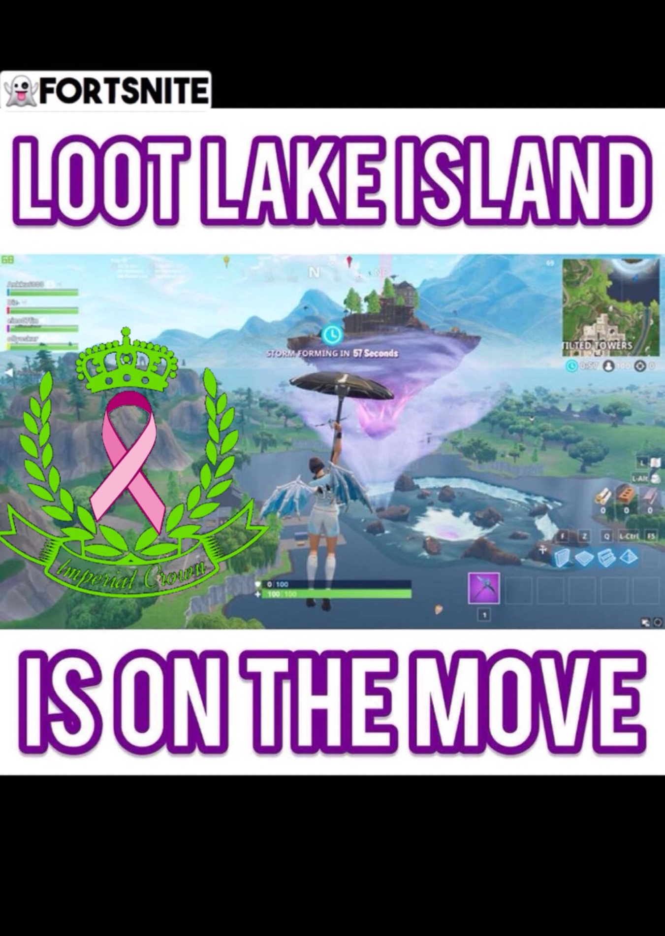 Loot lake island is on the move