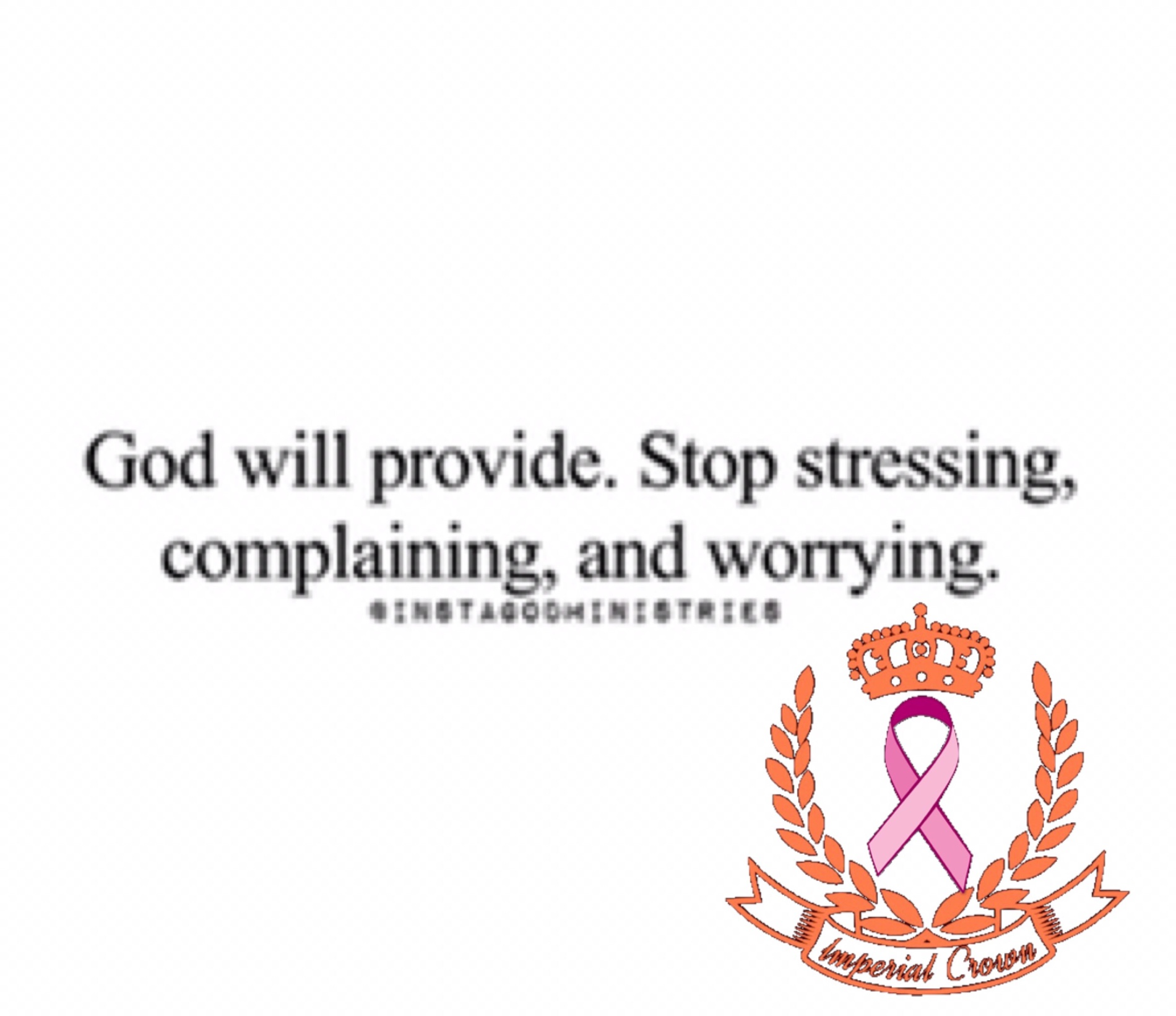 God will provide stop stressing complaining and worrying