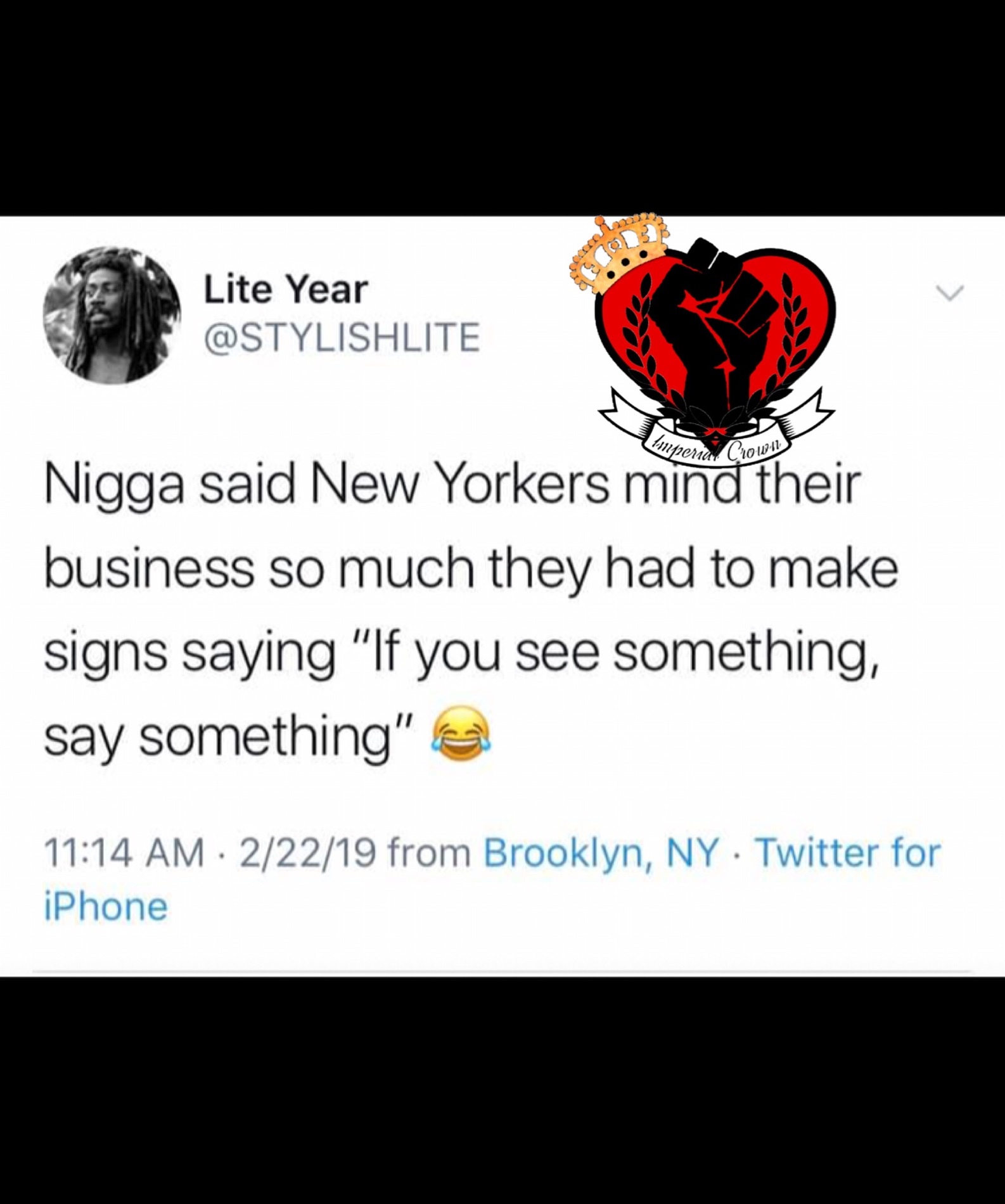 Nigga said New Yorkers mind their business …