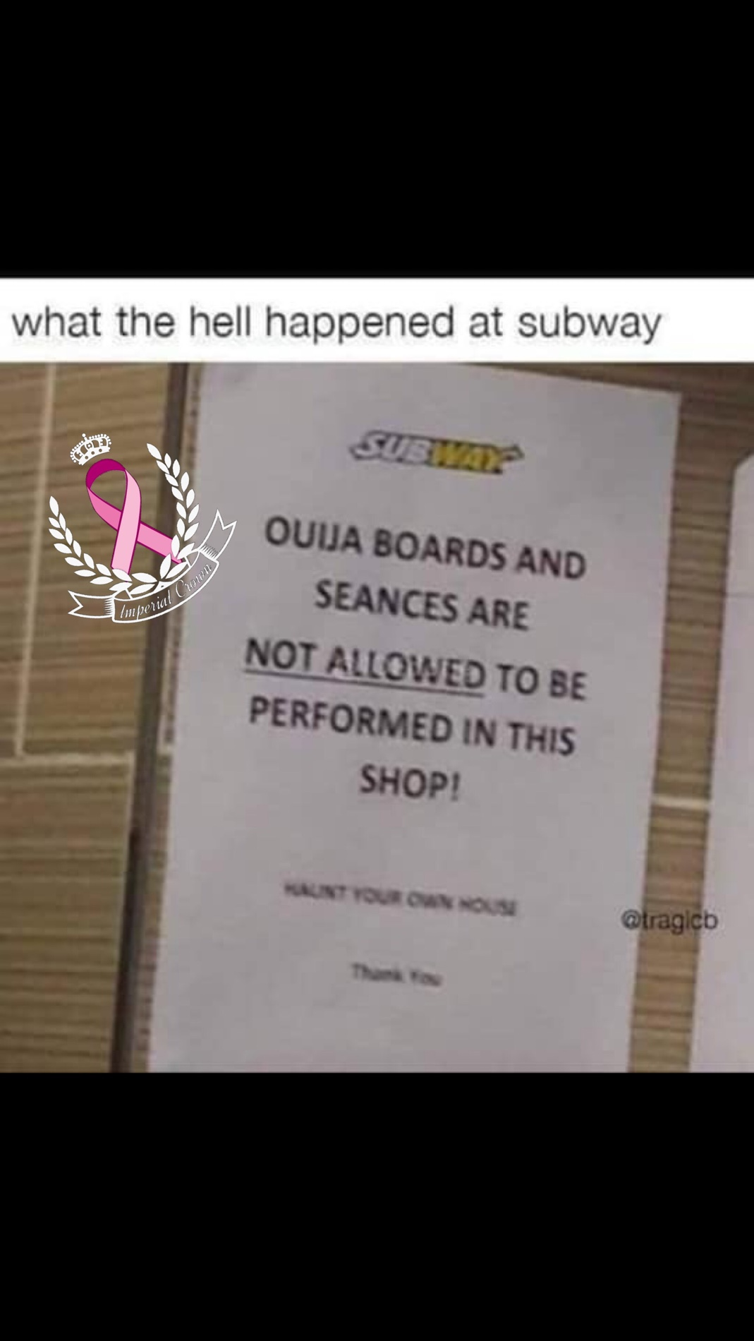 What the hell happened at the subway…..