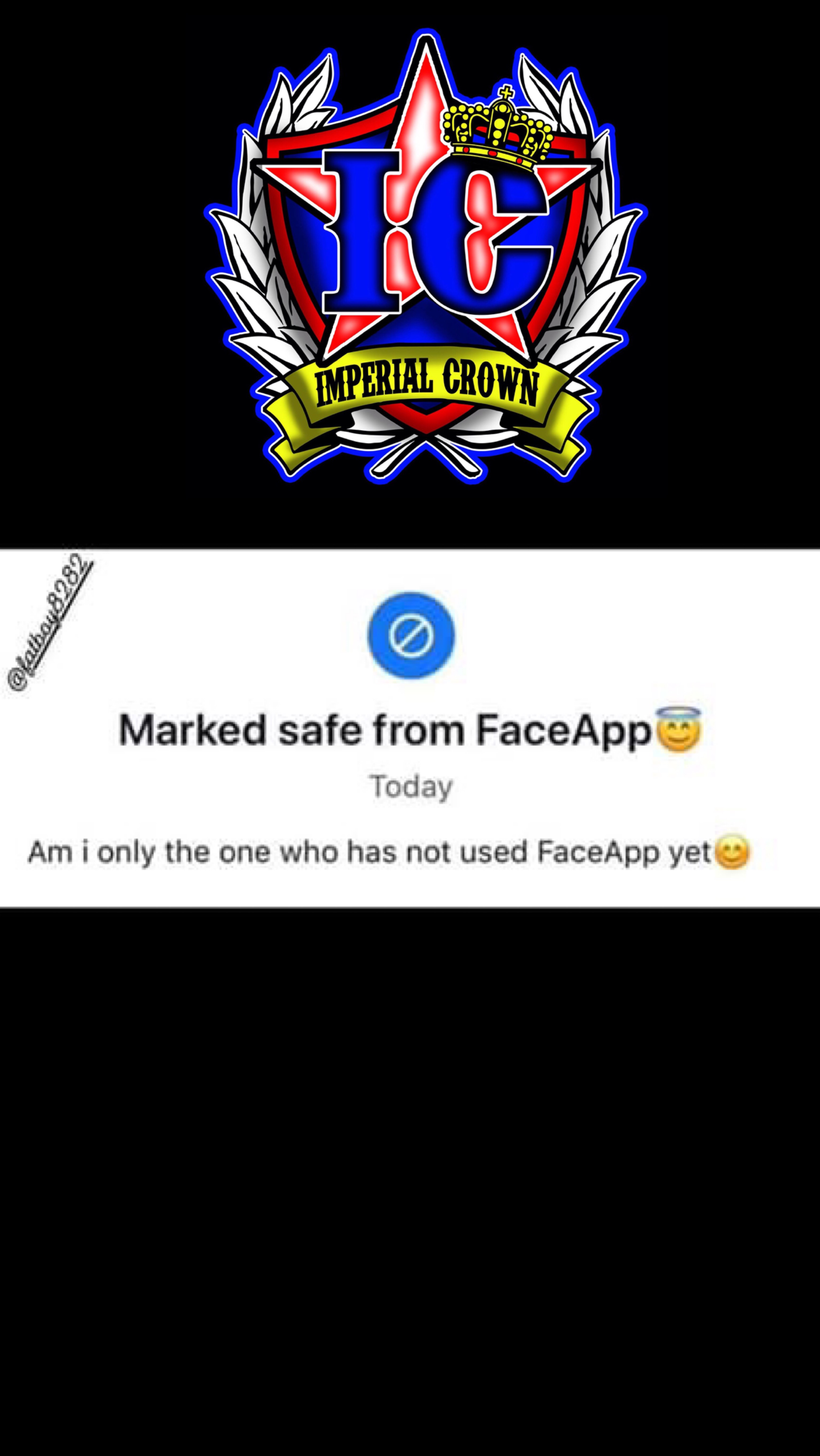 Marked safe from faceapp…