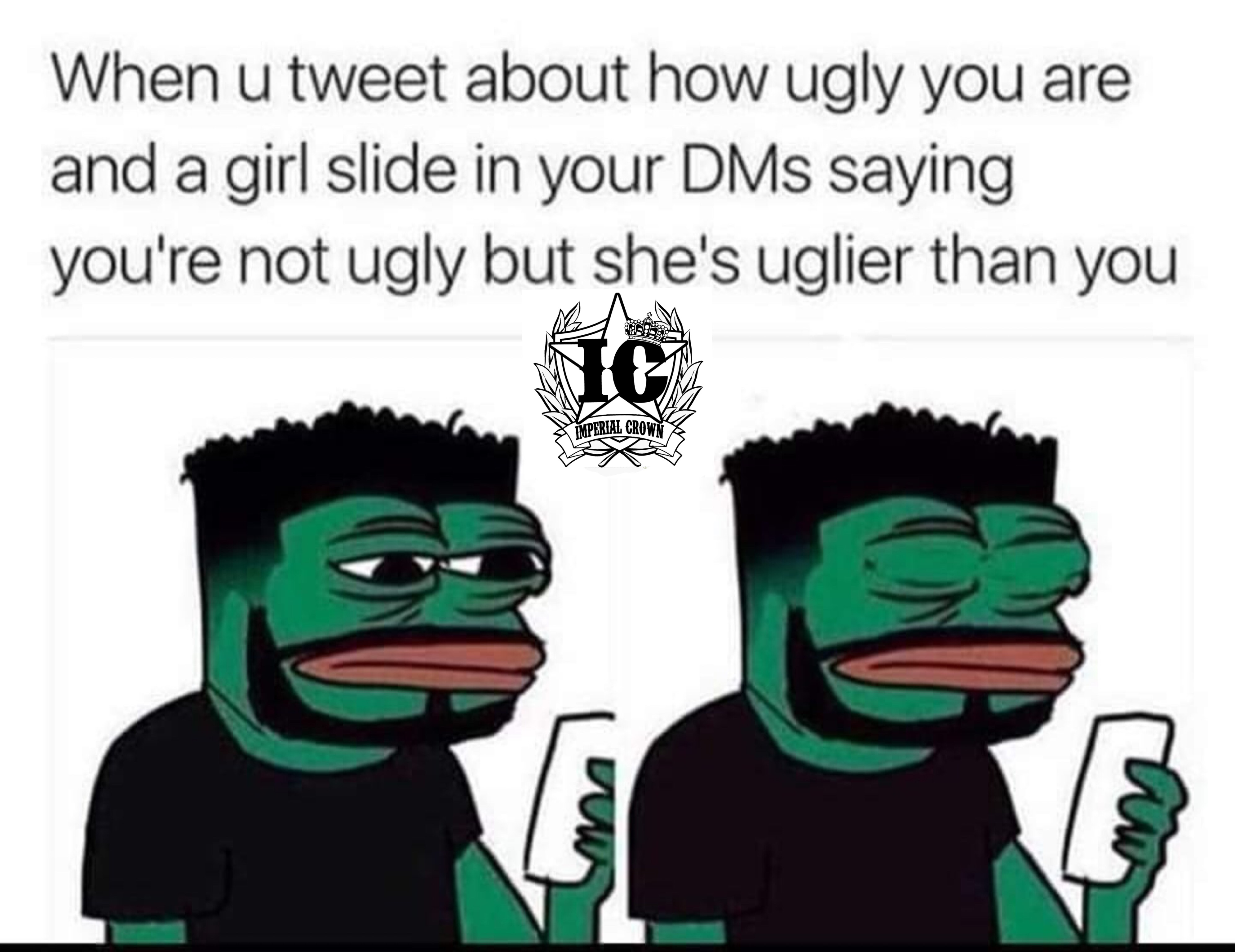 When you tweet about how ugly…