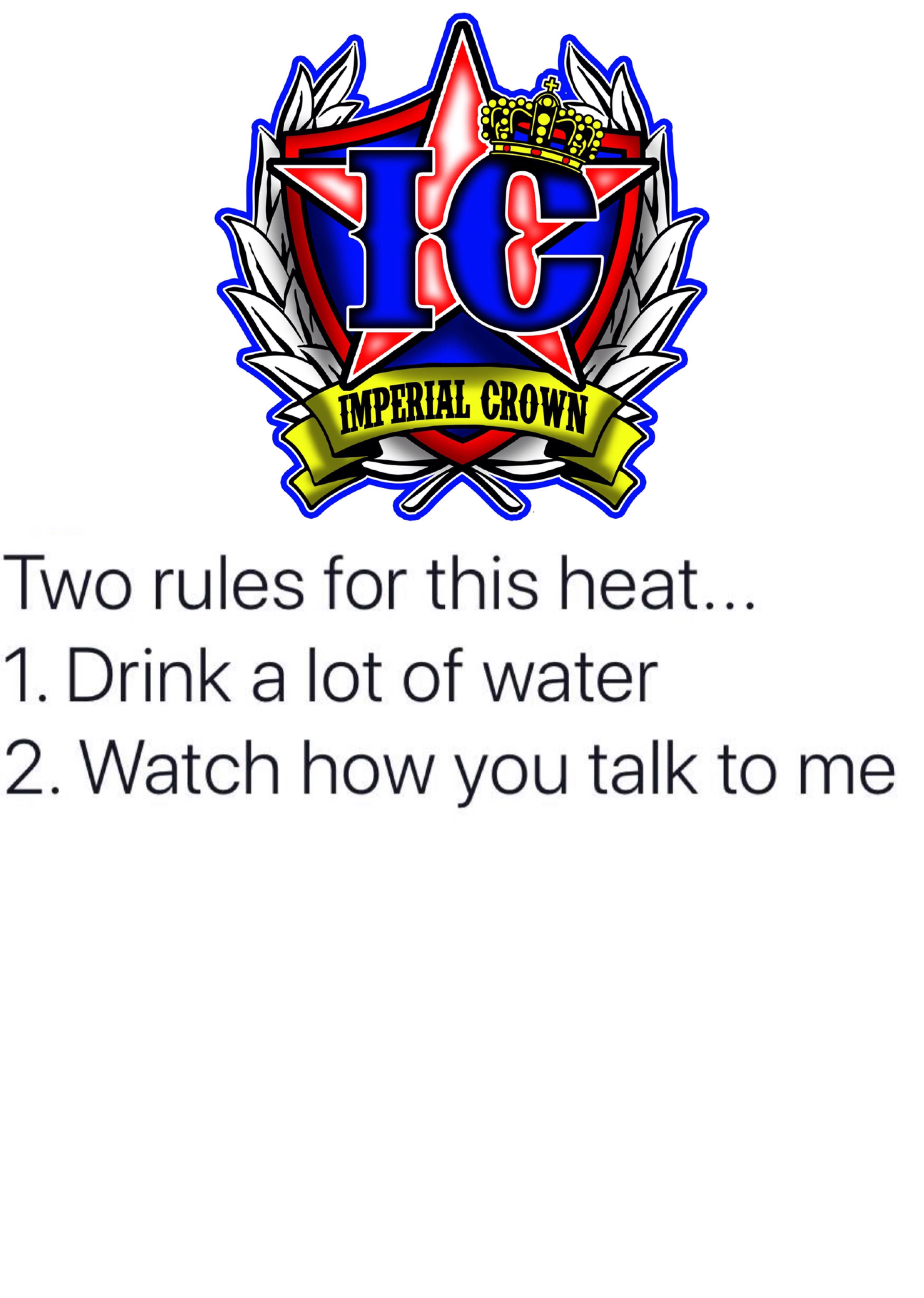 Two rules for this heat