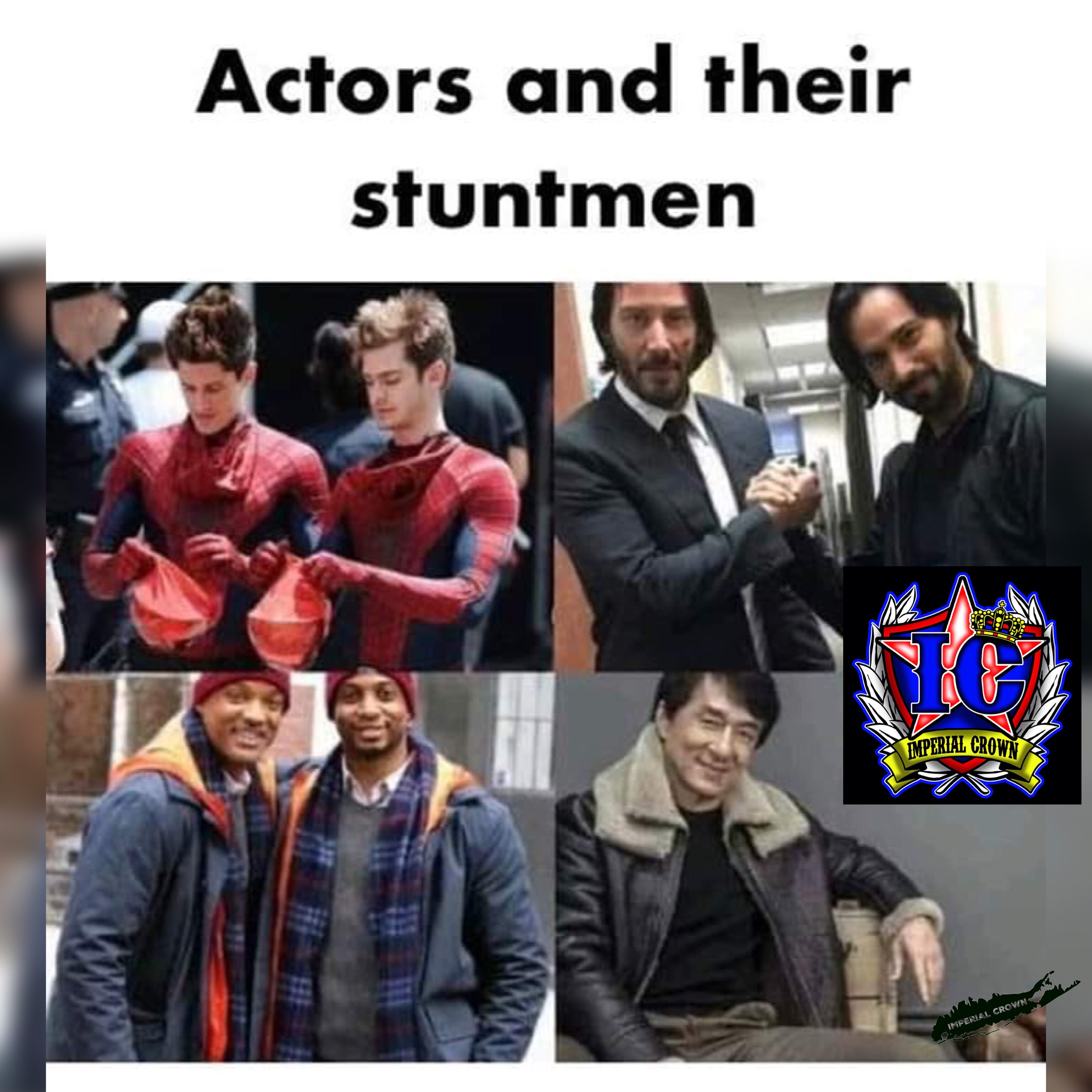 Actors and theirs stuntmen