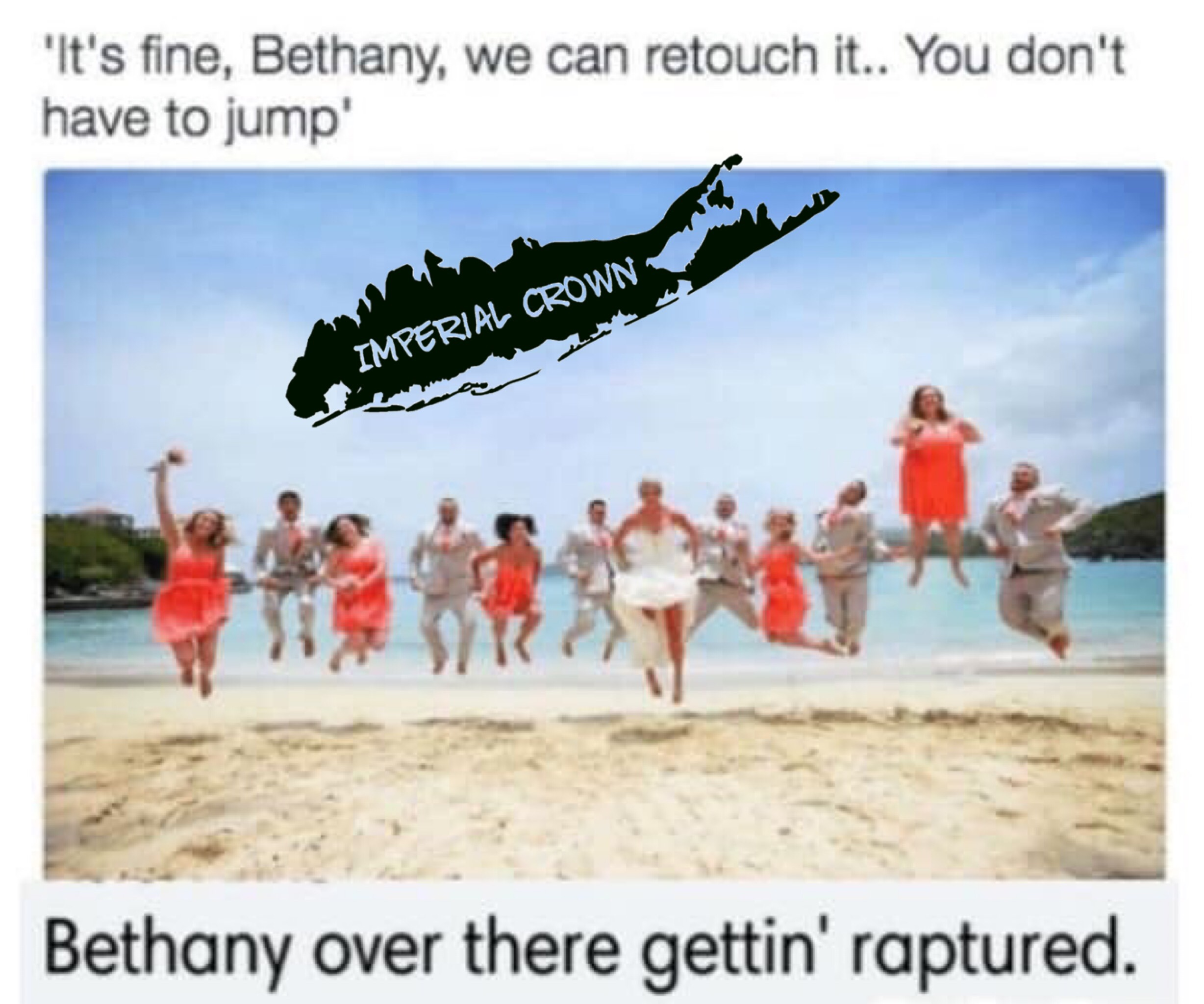 It's fine Bethany we can retouch …