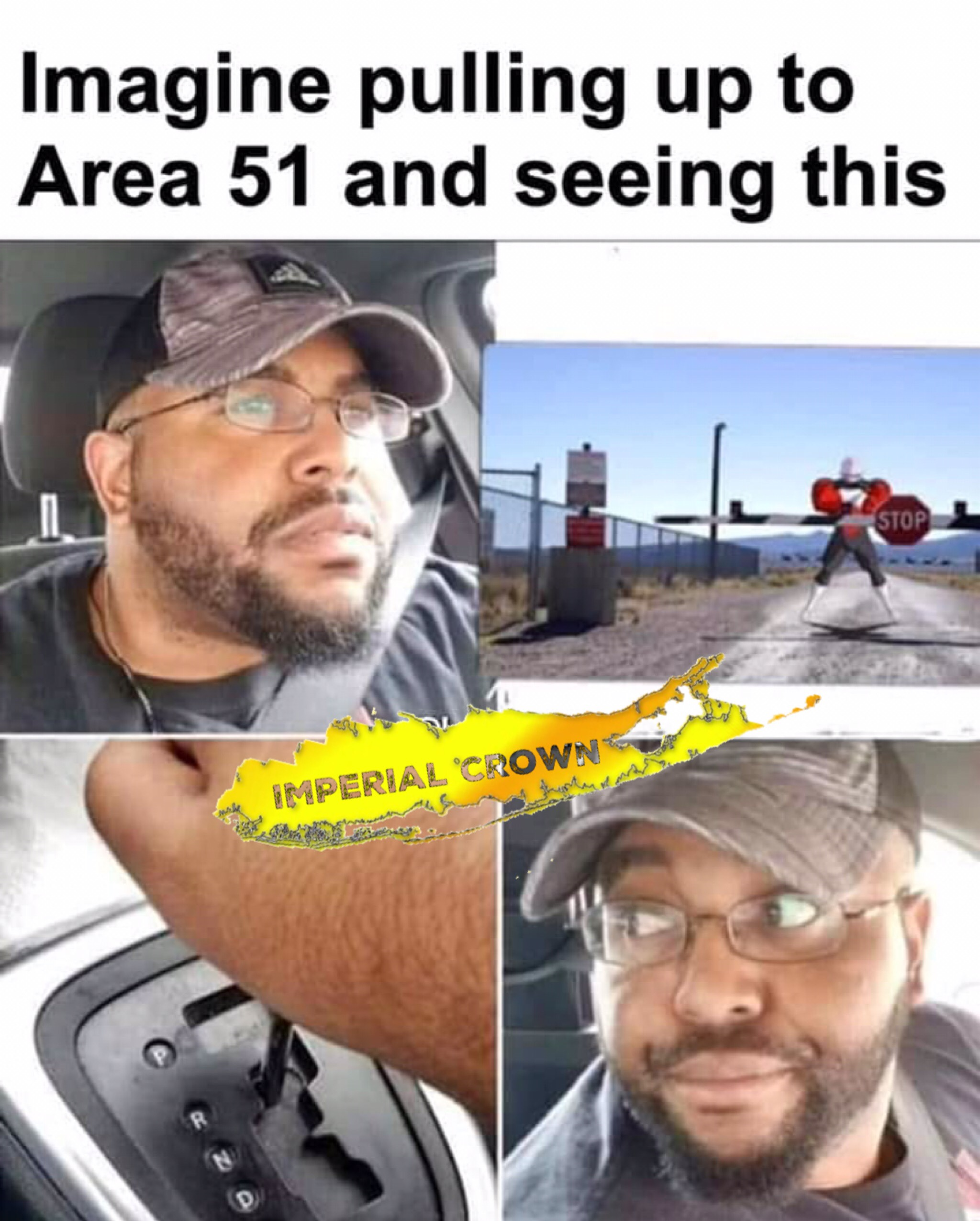 Imagine pulling up to Area 51 …