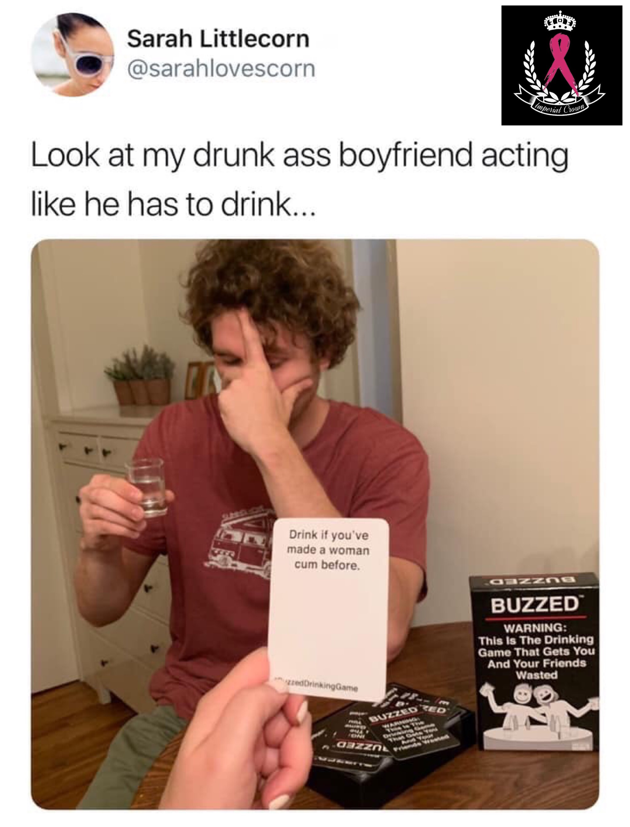Look at my drunk ass boyfriend acting