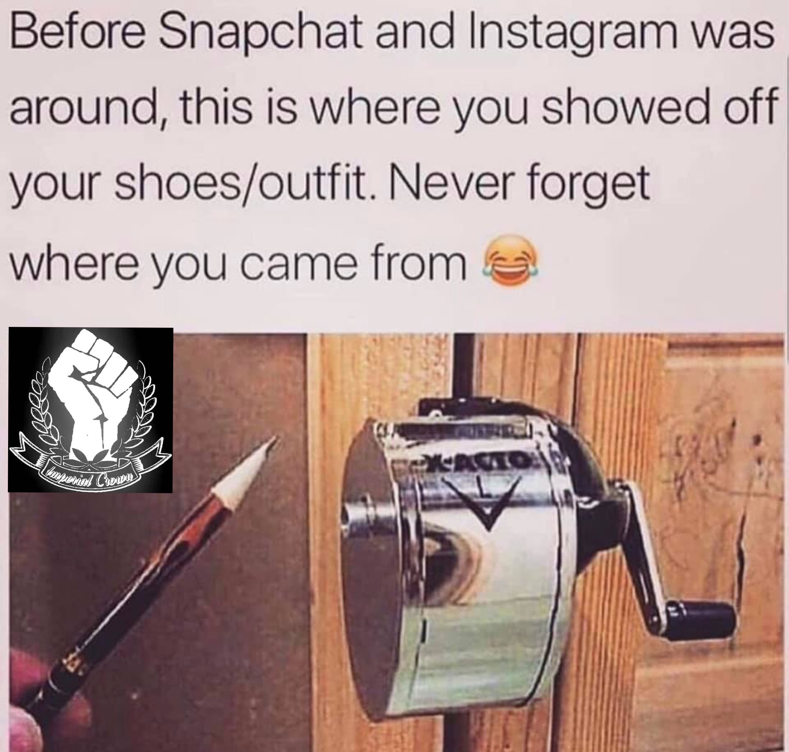 Before Snapchat and Instagram was around, this is where you showed off your shoes or outfit