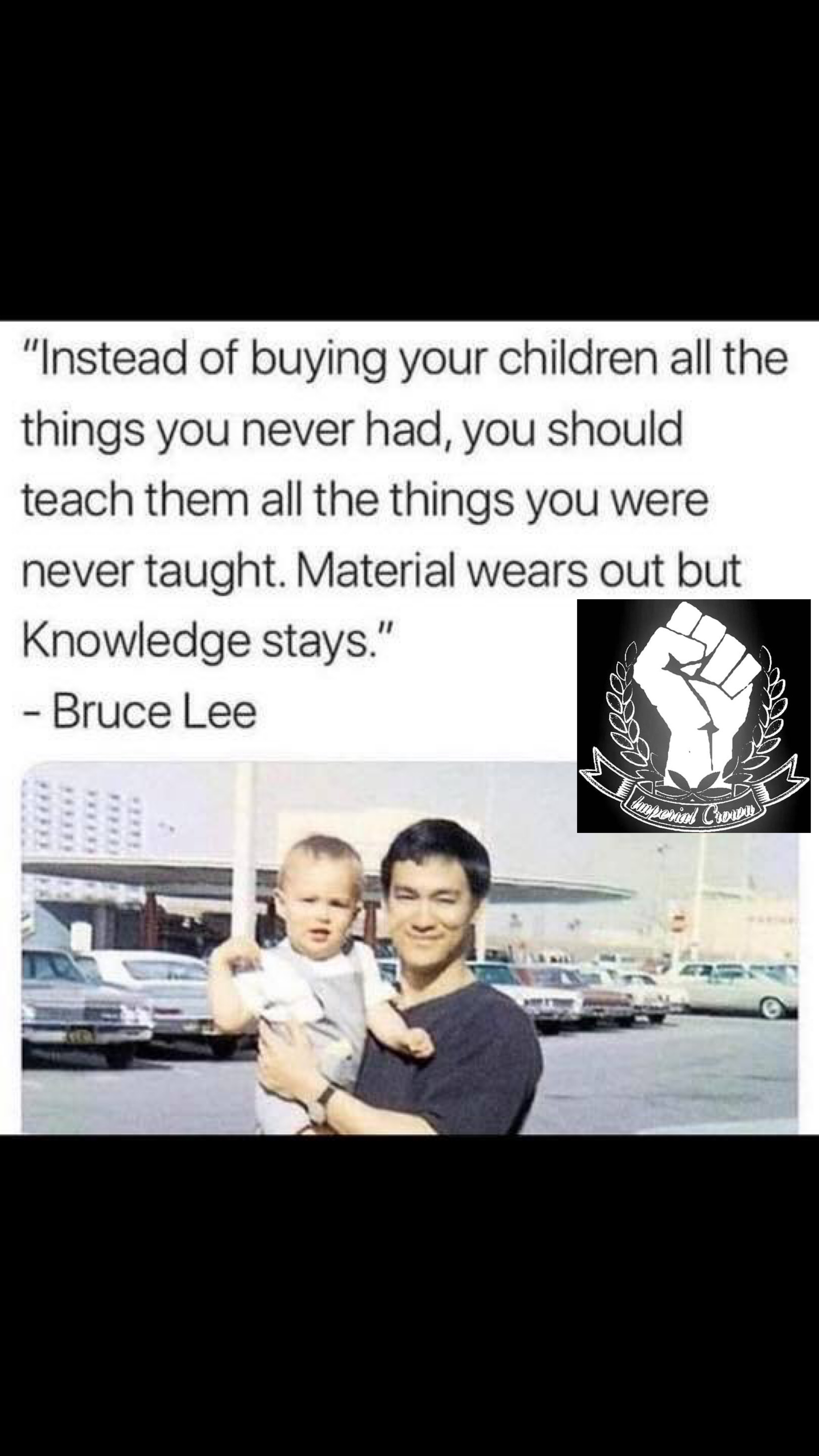 Instead of buying your children all the things you never had…