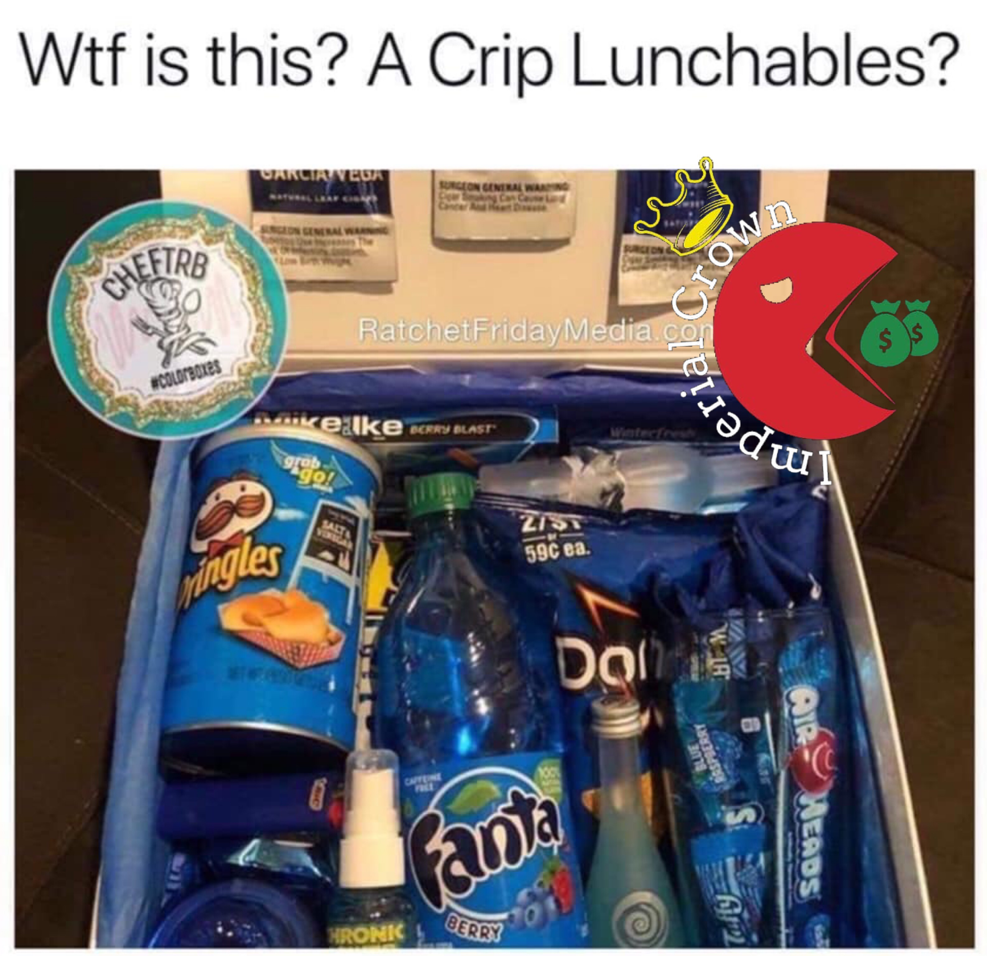 Wtf is this a crip lunchables