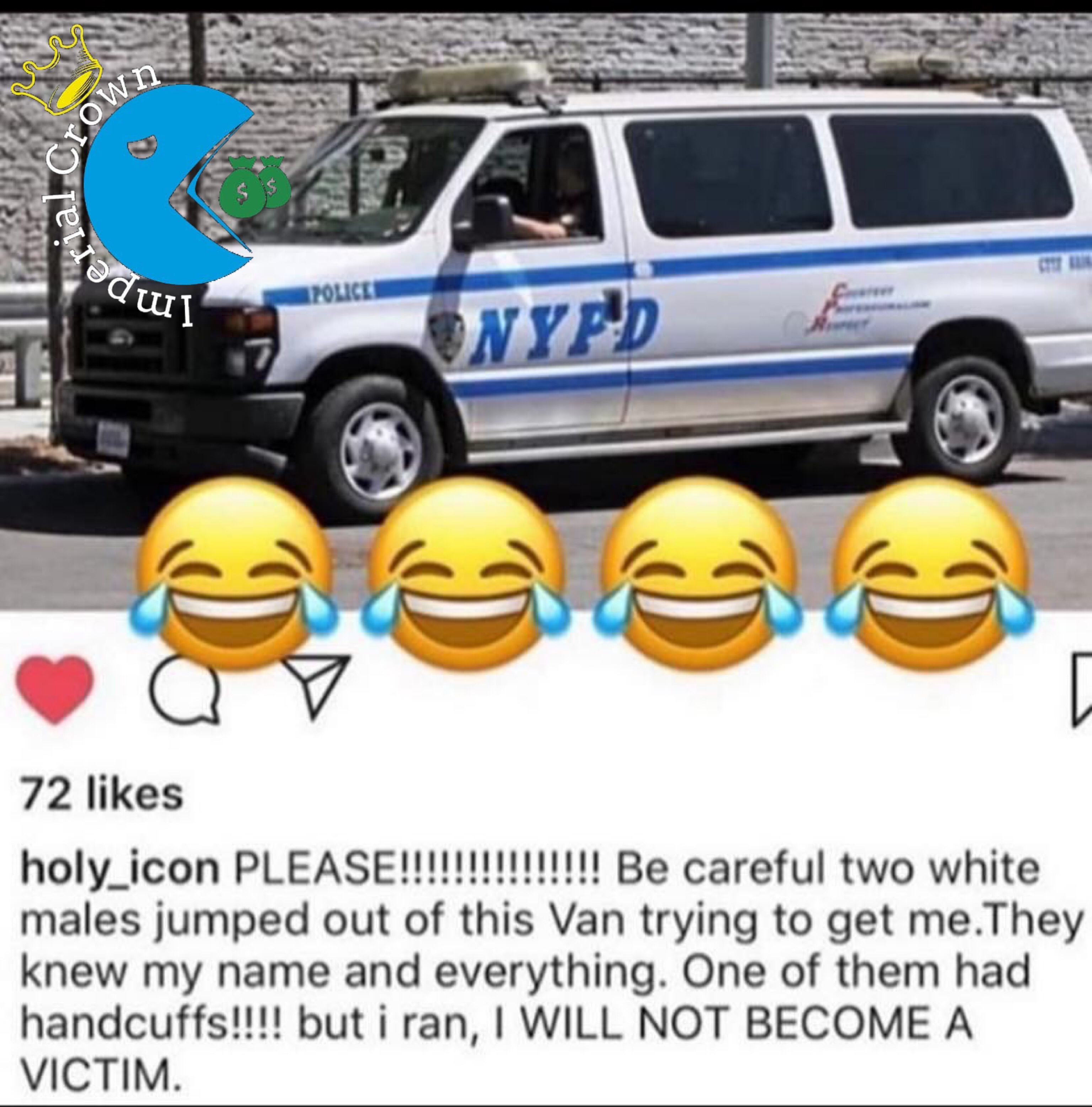 Please be careful two white males jumped out of this Van trying to get me