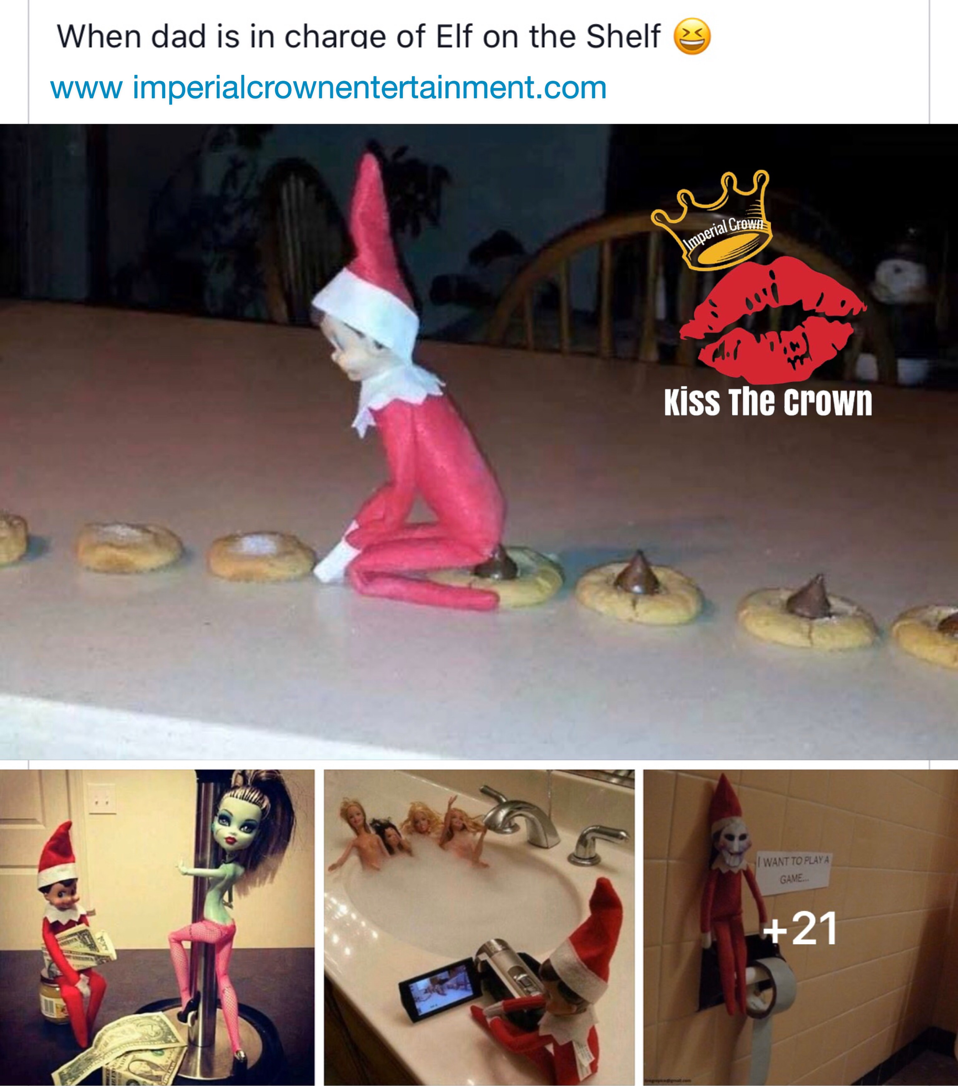 When dad is in charge of elf on the shelf