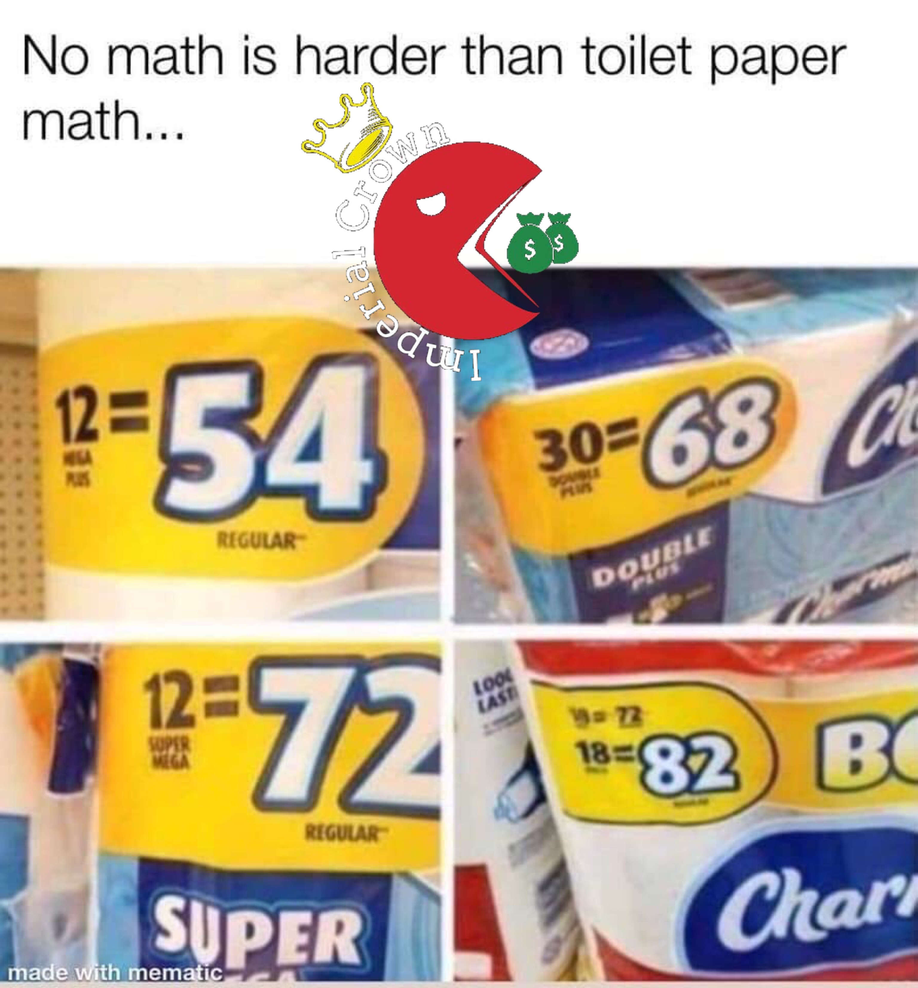 No math is harder than toilet paper math