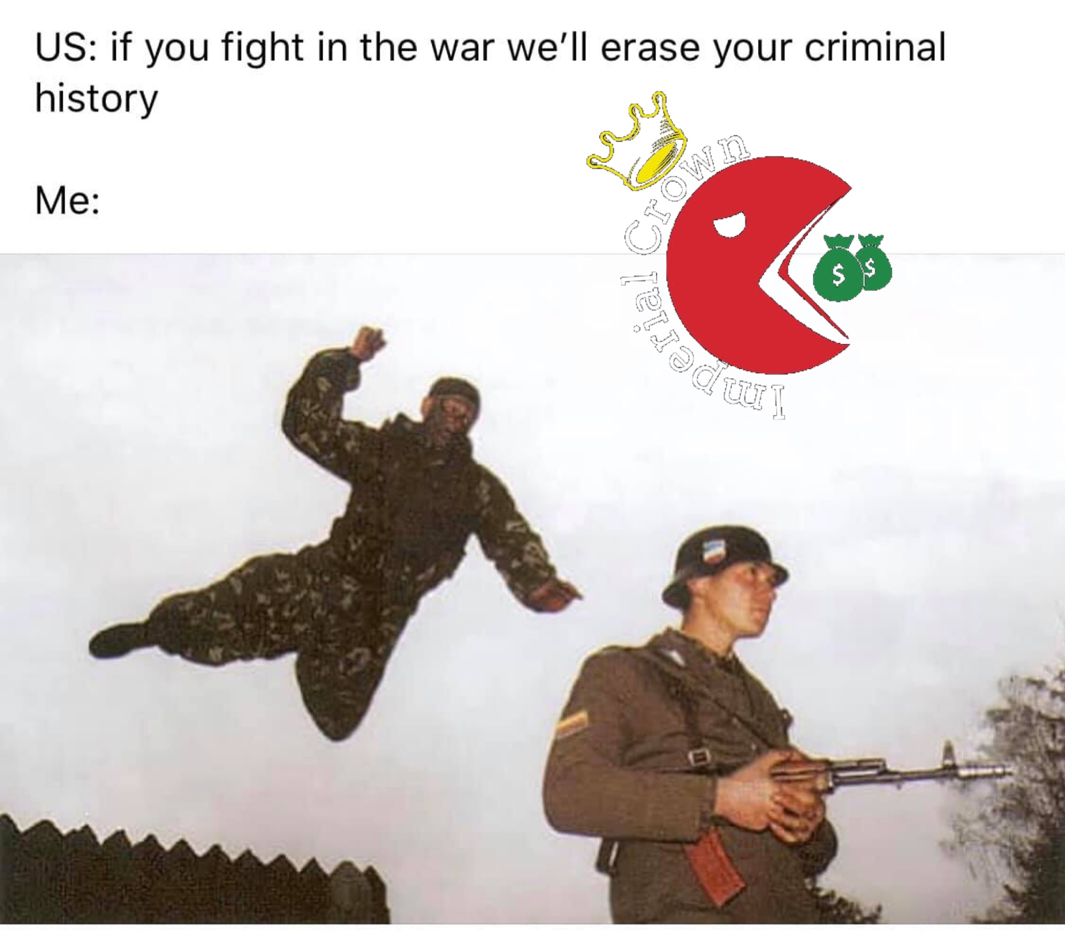 If you fight in the war we'll erase your criminal history
