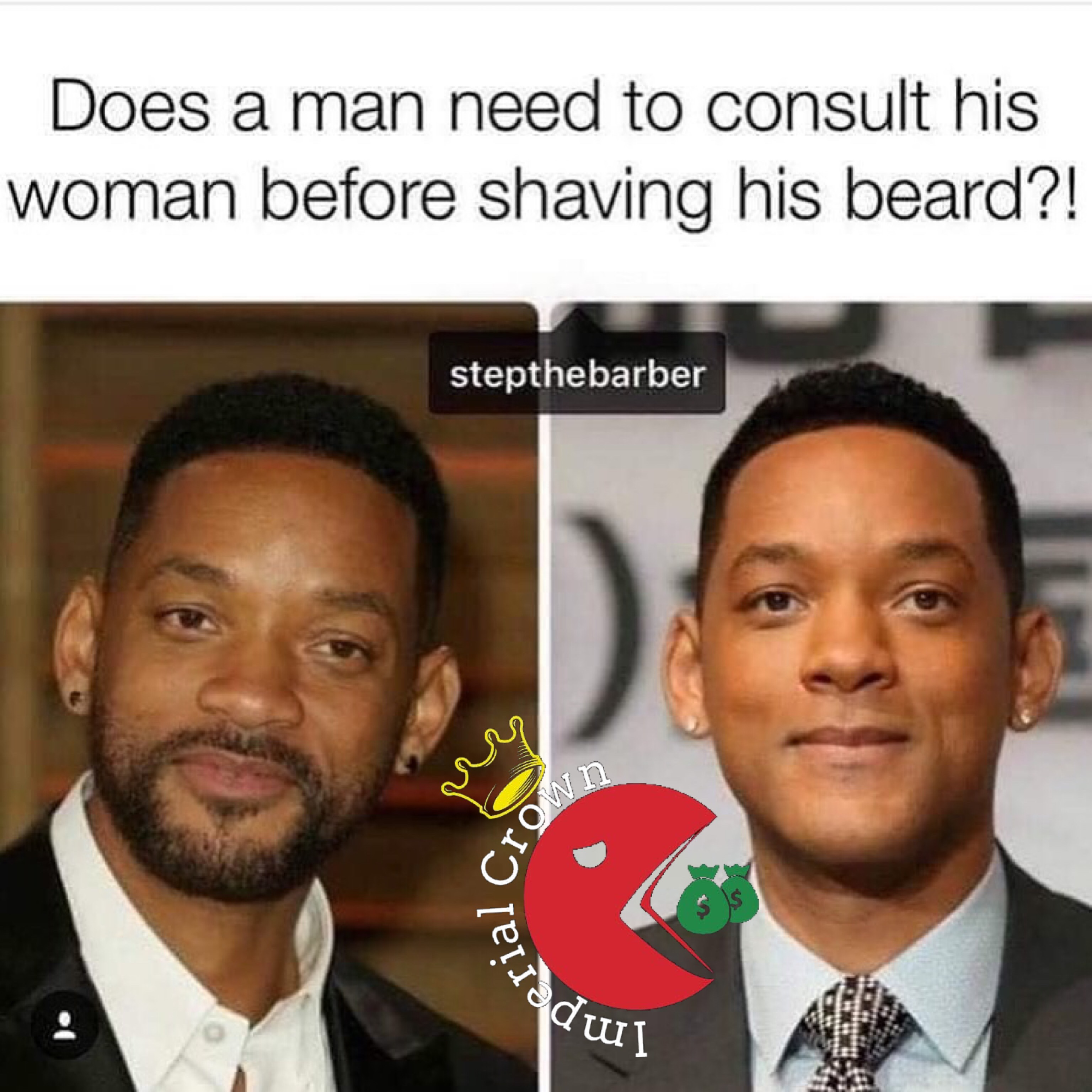 Does a man need to consult his woman before shaving his beard