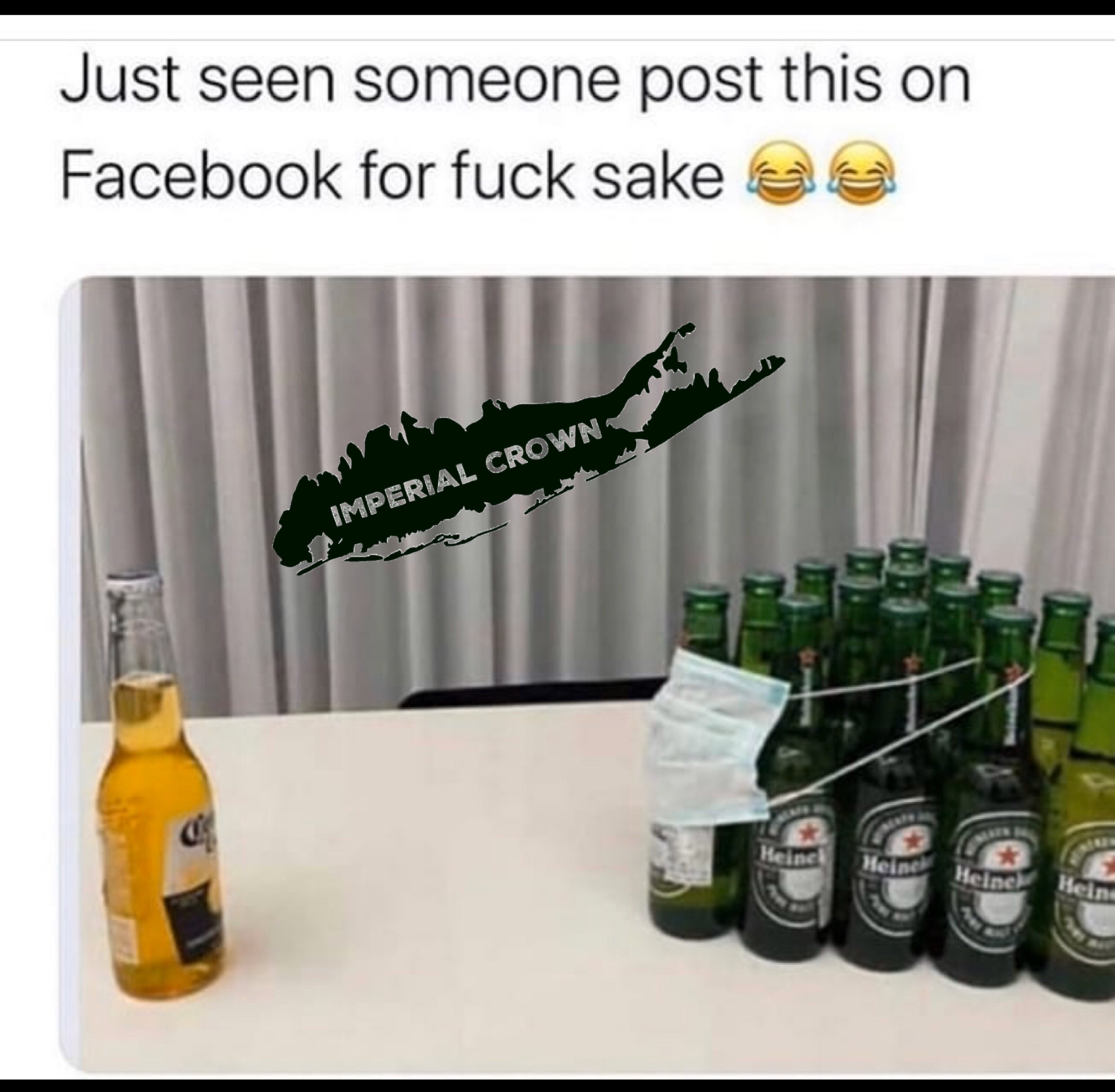 Just seen someone post this on Facebook for fuck sake