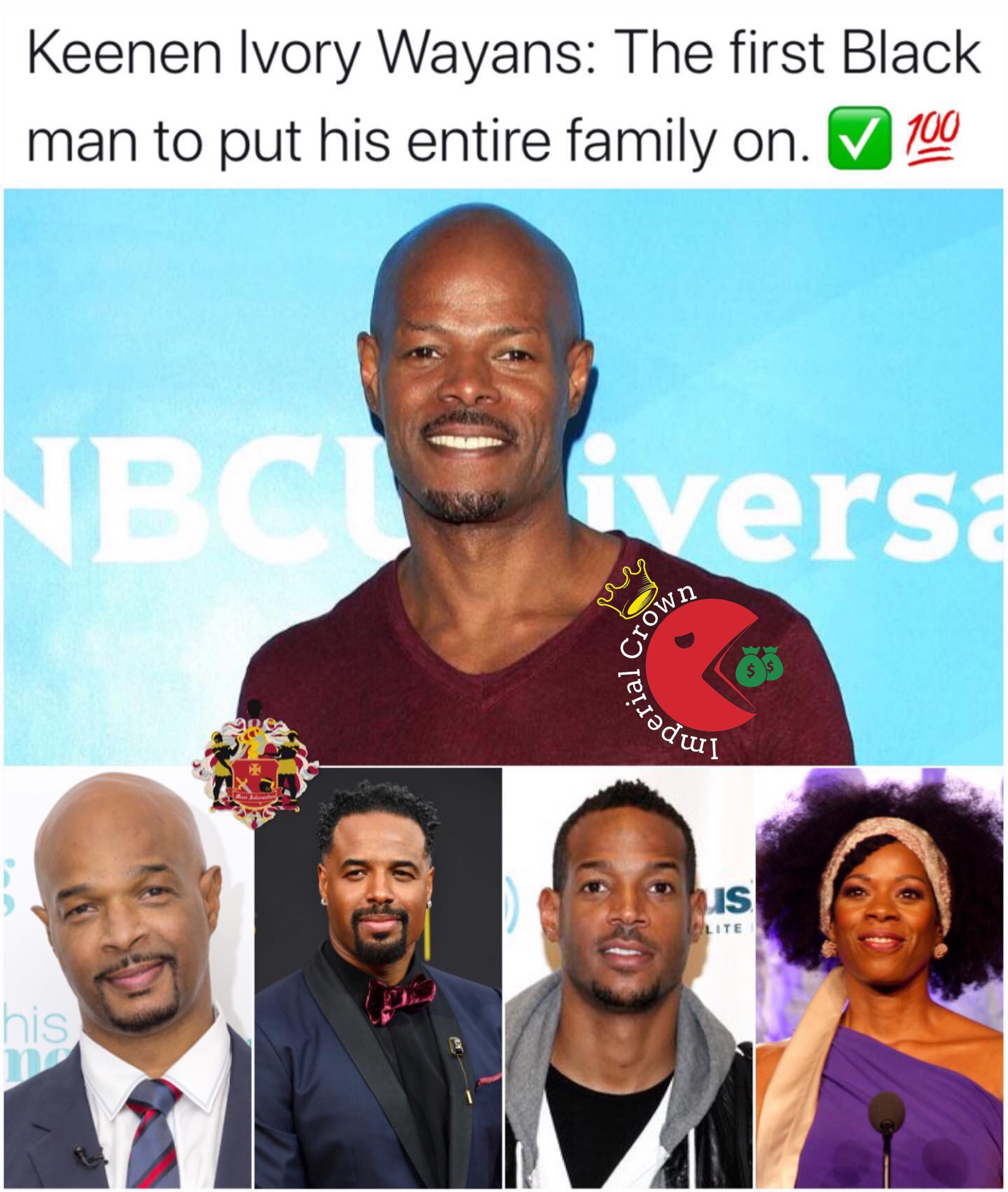 Keeenen ivory wayans the first black man to put his entire family on