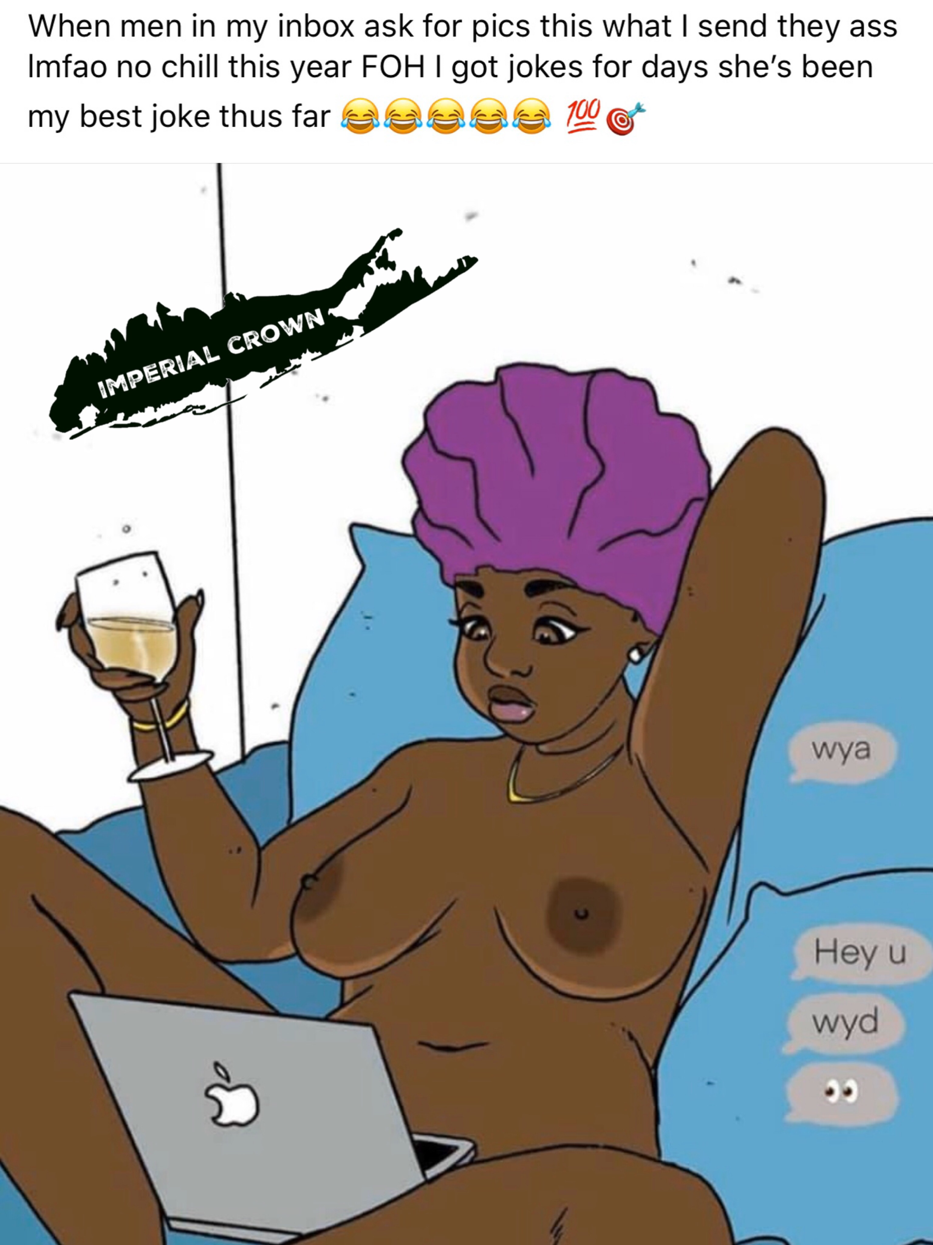 When men in my inbox ask for pics this what I send they ass lmfao no chill this year FOH
