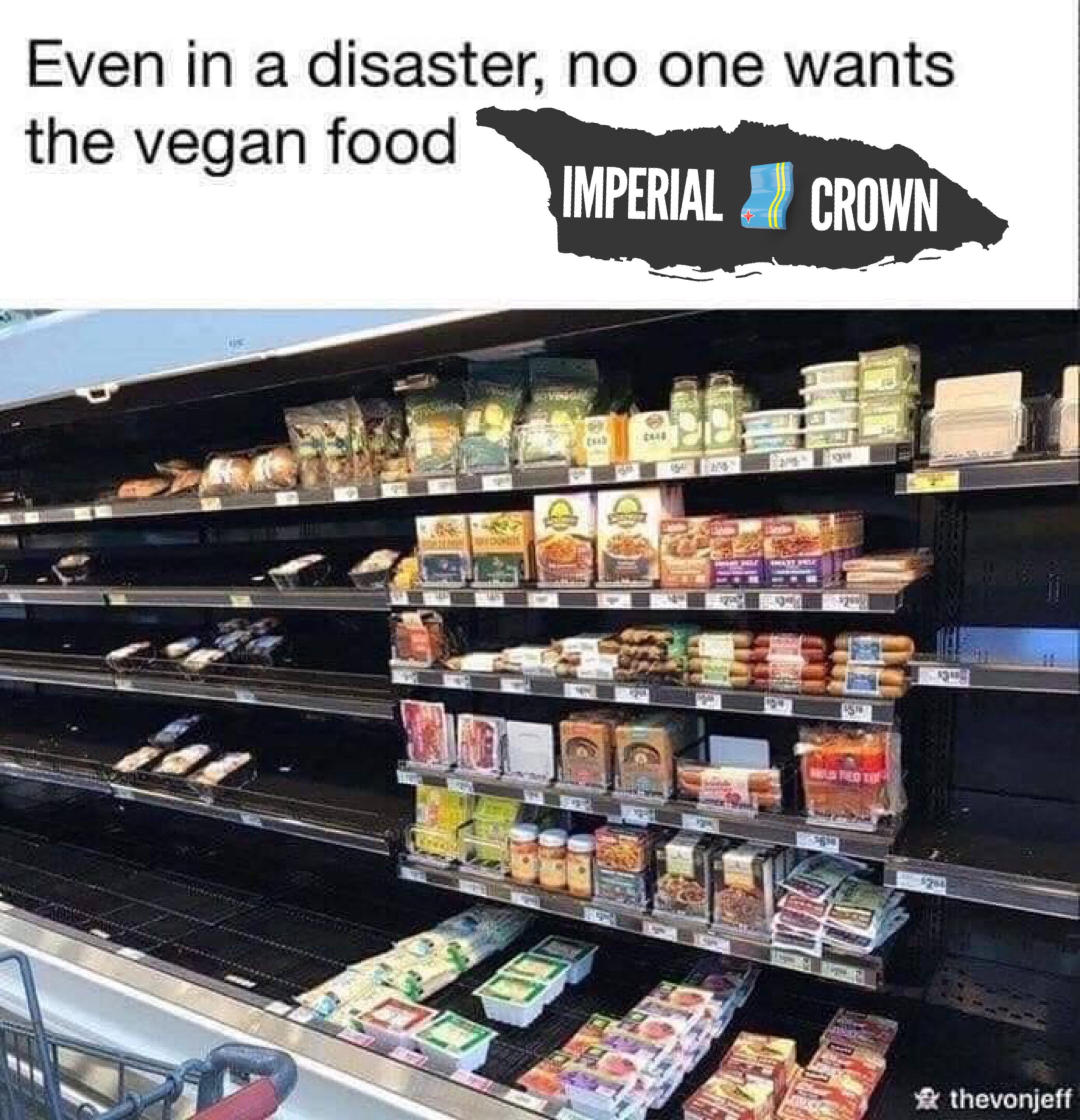 Even in a disaster no one wants the vegan food