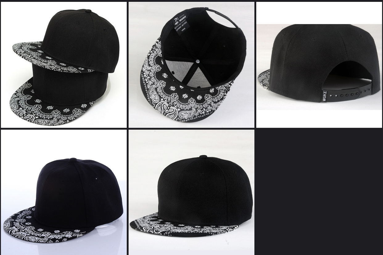 IC fashion Men's black and white SnapBack Premium Hat