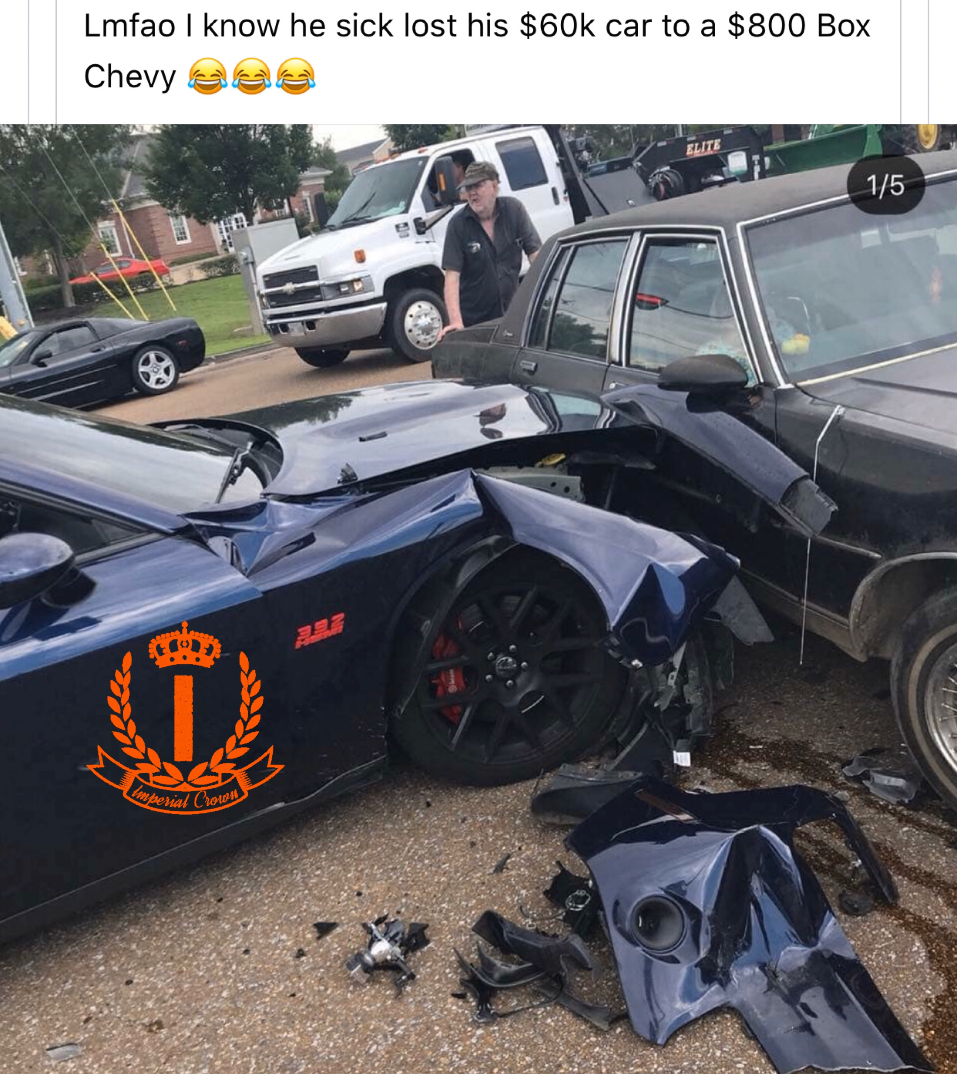 Lmao I know he sick lost his $60k to a $800 box Chevy