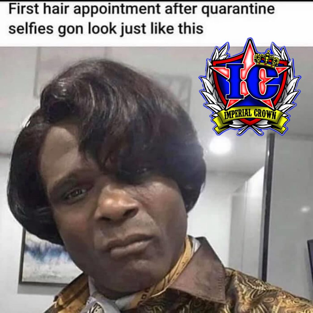 First hair appointment after quarantine selfies gon look just like this