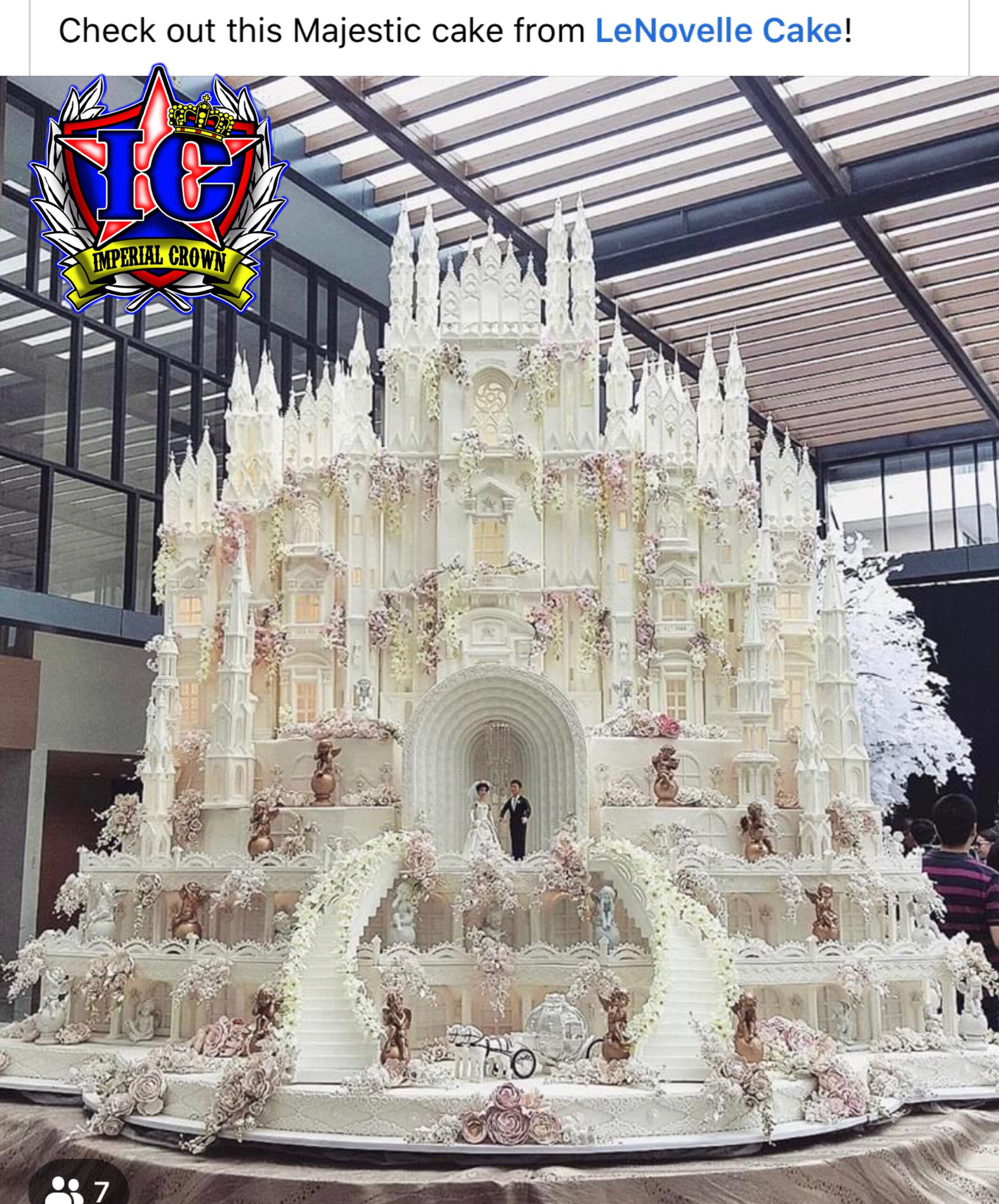 Check out this majestic cake from LeNovelle Cake