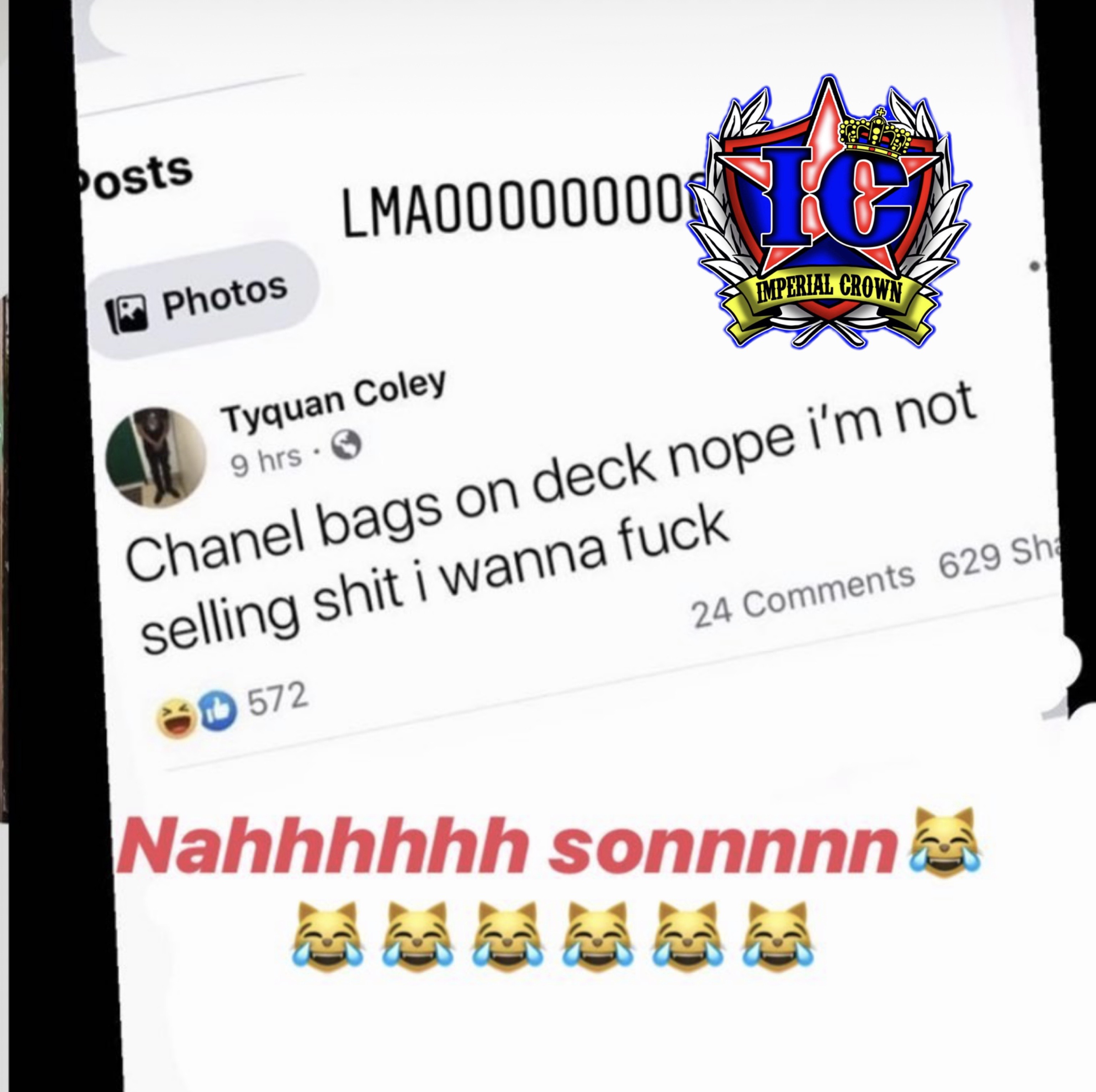 Chanel bags on deck nope I'm not selling shit I wanna fuck