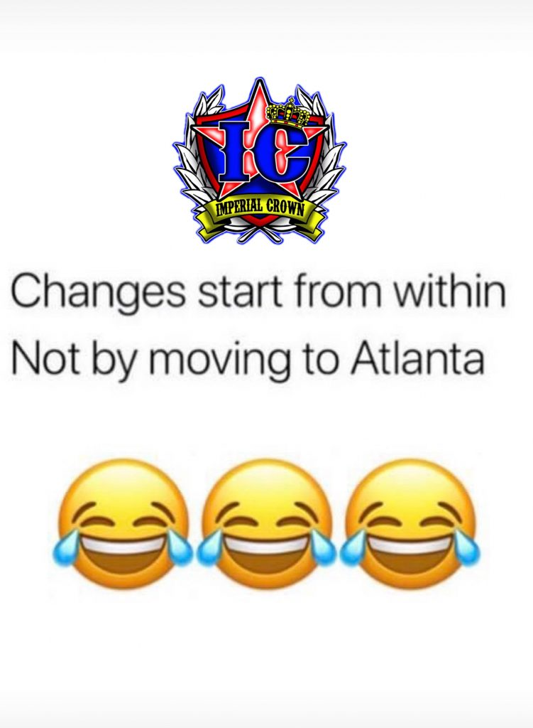 Changes start from within not by moving to Atlanta