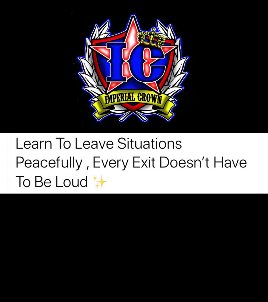 Learn to leave situations peacefully every exit doesn't have to be loud