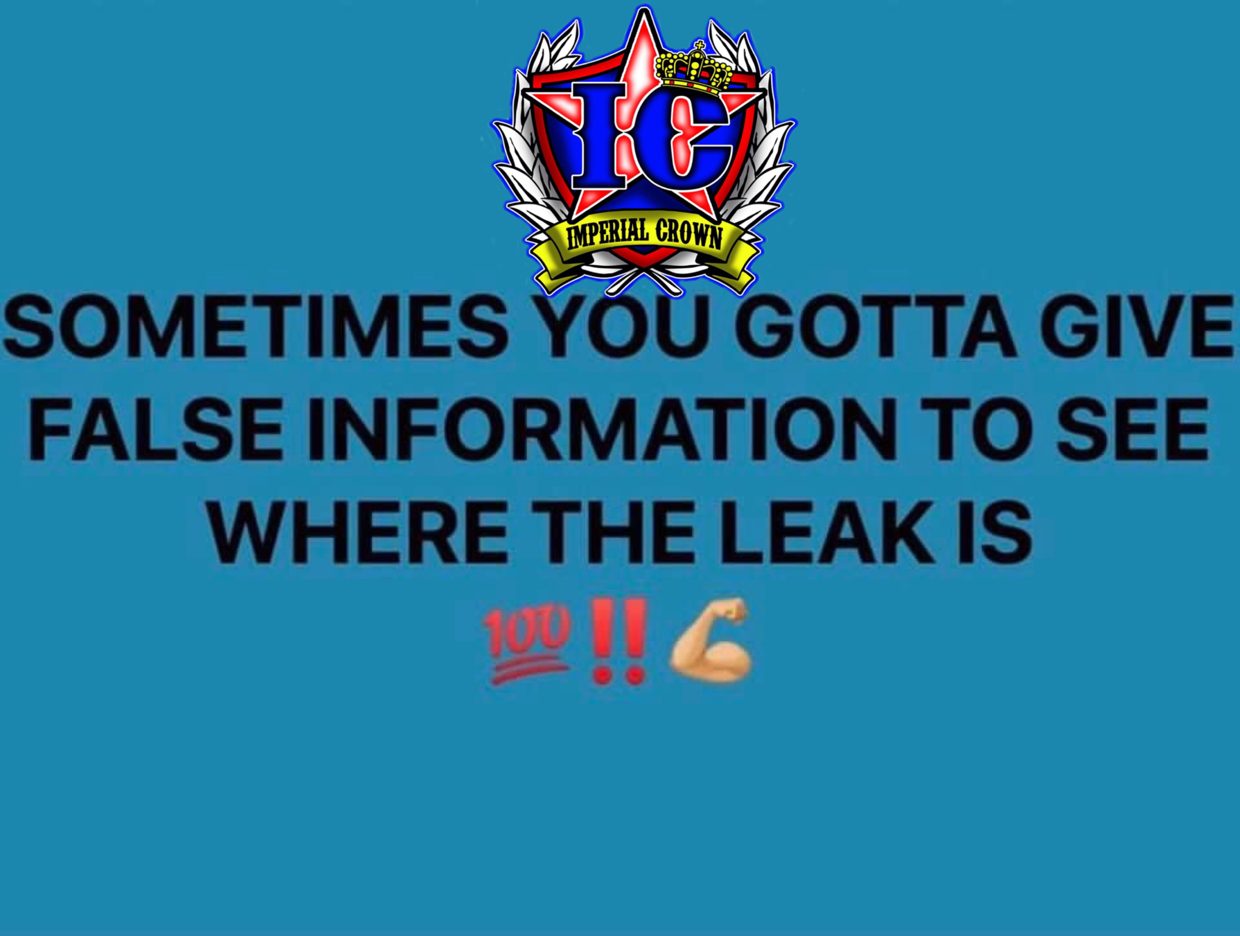 Sometimes you gotta give false information to see where the leak is