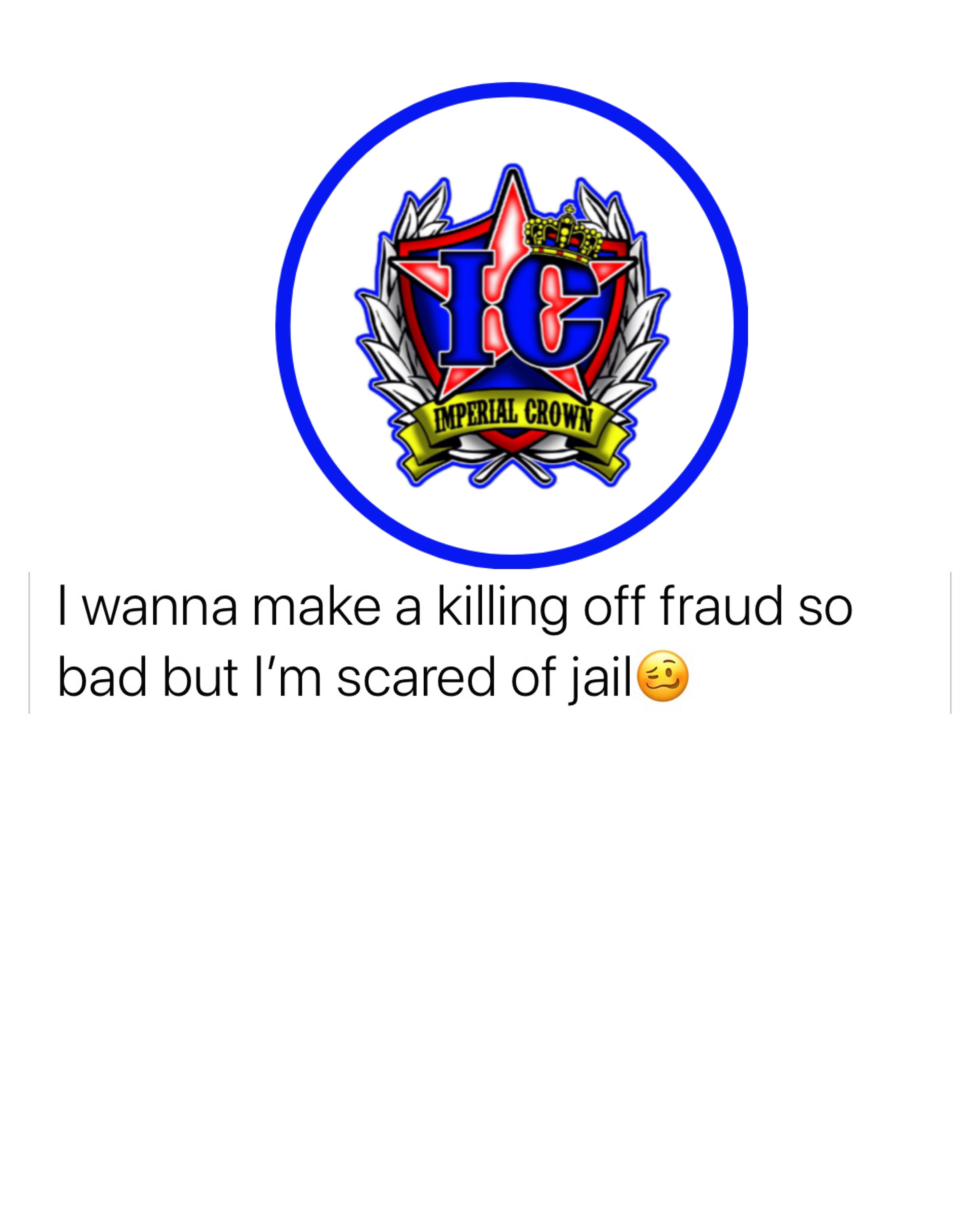 I want to make a killing off Friday so bad but I'm scared of Jail